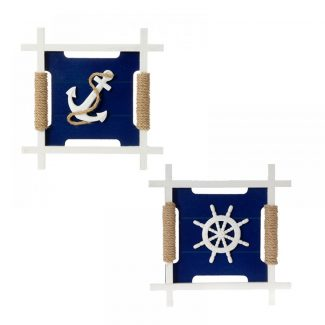 Decor de perete din lemn Navy