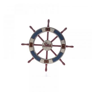 Decoratiune din lemn Navy Wheel