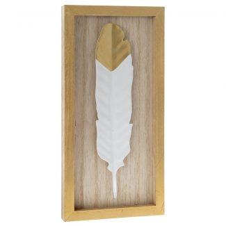 Decoratiune din lemn Penna Alba