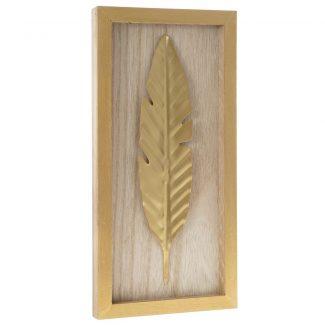 Decoratiune din lemn Penna Gold