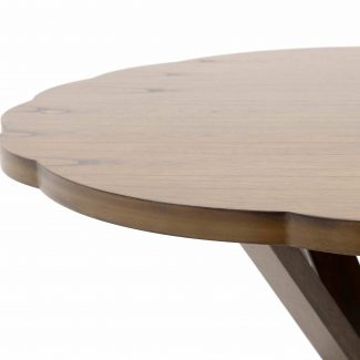 Masa rotunda de dining/bucatarie din lemn San Francisco