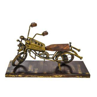 Decoratiune motocicleta din lemn si fier