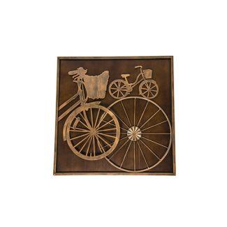 Tablou 3D din lemn si fier Bike