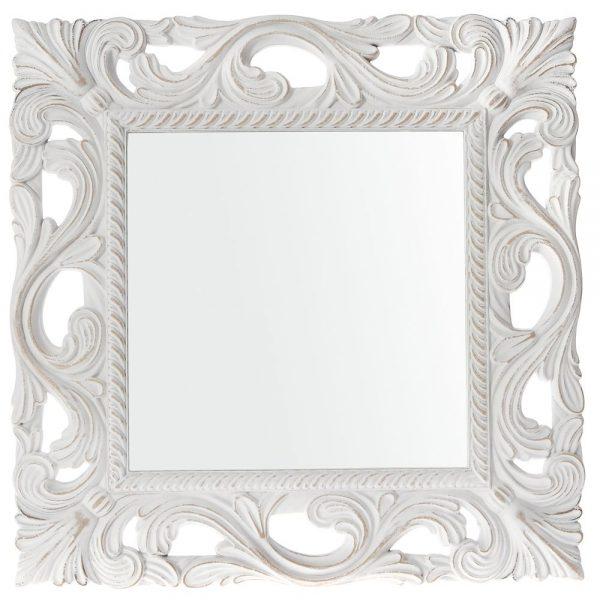 Oglinda din lemn Imperia Blanche