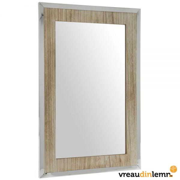 Oglinda din lemn si inox Future